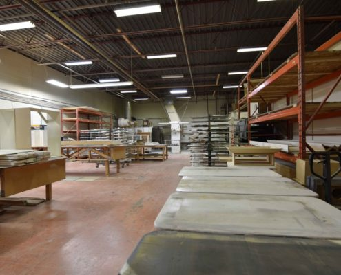 An overview of our finishing shop