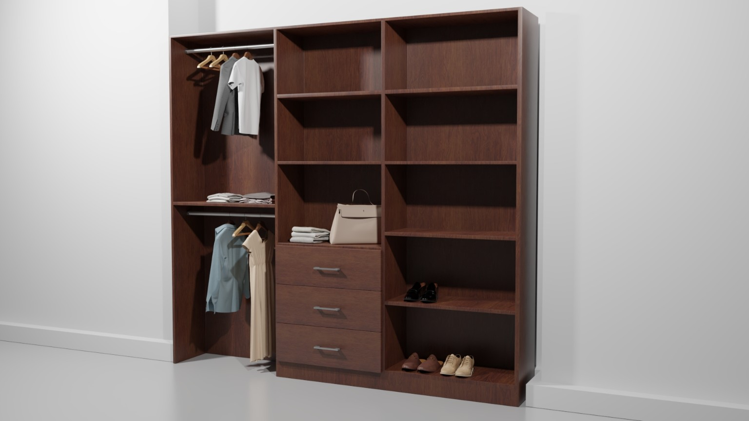 Straight Line Closet 87 Quot W Ws001b Scott Arthur Millwork Amp Cabinetry Ltd