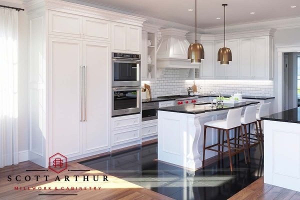 Rendering for Custom Cabinetry Project - Traditional Kitchen